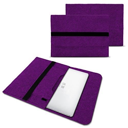 UC-Express Sleeve Hülle Odys Trendbook 14 Pro Tasche Filz Notebook Cover 14' Laptop Schutz Case, Farbe:Lila