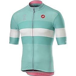 Castelli Novi Ligure Jersey, Camiseta de Ciclismo para Hombre, Hombre, 9510204, Azzurro Lago, S