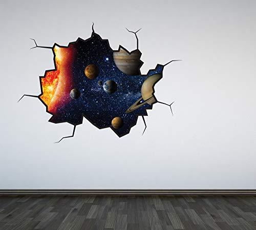 stem Ausgebrochenes Wandsticker Aufkleber Jungen Schlafzimmer Weltraum Universum Planeten Spielzimmer Galaxy - Large ()