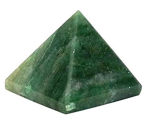 Indien Natur Edelstein Feng Shui Reiki Healing Kristall Energie Generator Spirituelle Pyramide Green Aventurine 40-55mm