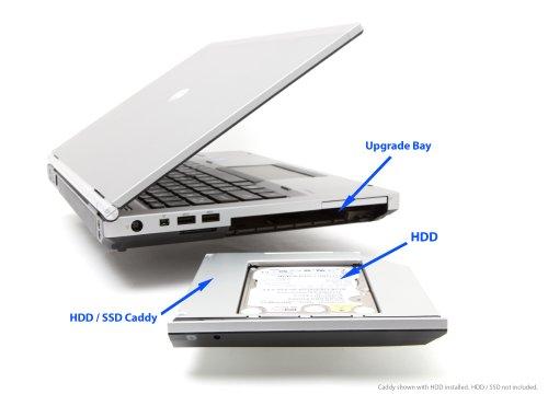 OptiBayHD Kit di montaggio per secondo hard disk o SSD disco in HP upgradebay di ProBook 6460b/6465b/6470B/EliteBook 8460p/8470p alla istituzione di un lettore CD/DVD o BD ottico
