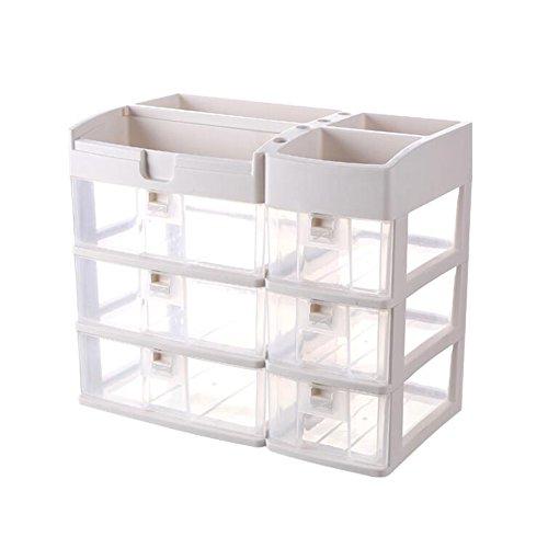 CJC Make-Up Taschen Etuis Lager Box Transparent Haushalt Desktop Schublade Formel Dressing Box Kunststoff Lippenstift Schmuck Ohrring Lager Aussortieren Box ( Farbe : T3 ) - Stiftung Tasche