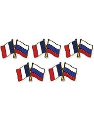 5 pièce Pack pins drapeaux amitié France / Russie