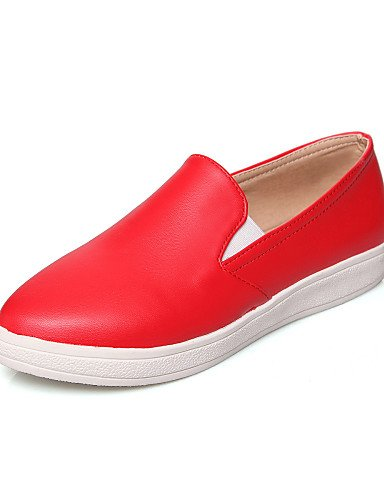 ZQ Scarpe Donna Finta pelle Piatto A punta Mocassini Casual Nero/Rosso/Bianco , white-us6.5-7 / eu37 / uk4.5-5 / cn37 , white-us6.5-7 / eu37 / uk4.5-5 / cn37 black-us5.5 / eu36 / uk3.5 / cn35