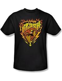 Das Flash Heiße Sohlen für Erwachsene Kurzarm T-Shirt in Schwarz von DC Comics