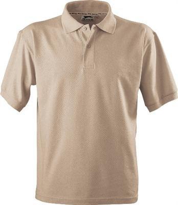 Slazenger Polo Hemd Poloshirt aus 100 % Baumwolle für Freizeit, Tennis oder Golf in 23 Farben und den Grössen S, M, L, XL und XXL Khaki,XXL (Golf Khaki Shirt)