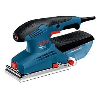 Bosch Professional 0601070700 Lijadora orbital, 190 W, 240 V, Negro, Azul, Rojo