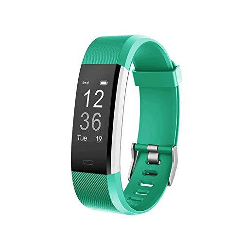 ZLLZ Smart Armband Herzfrequenz-Test wasserdicht Bluetooth Sport Armband Schritt Schlaf Überwachung, Fitness-Tracker tragbare Smart Armband Damen Herren Kinder-Green -