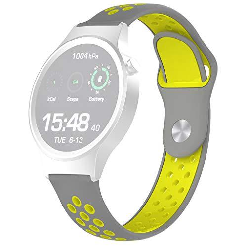 Happysdh Armband kompatibel mit Fossil Gen 4 Q Venture HR, Smartwatch Zubehör Zweifarbig mit Löchern Silikon Uhrenarmband Ersatzarmband Armbänder Smartwatch für Männer Frauen -