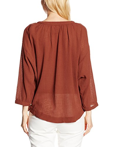 Leon & Harper Club - Chemisier - Taille normale - Manches longues - Femme Rouge (Rust)