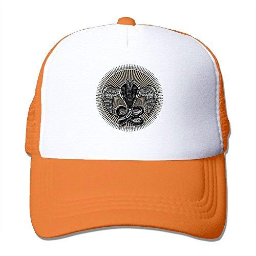 Preisvergleich Produktbild Have You Shop Snake Bite Circle Printing Unisex Adult Funny Mesh Trucker Hats Snapback Meshback Caps Adjustable Orange