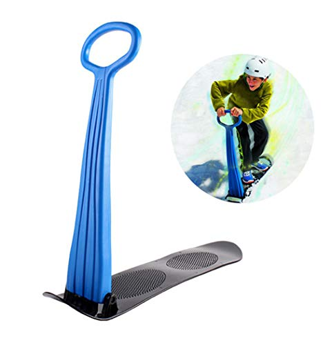 shbghy Outdoor Ski Rodeln, Portable Winter Outdoor Sport Ski Ausrüstung Erwachsene Kinder Snowboard Furnier Folding Ski Toboggan, Rot/Grün/Blau 75 X 92 cm Blau