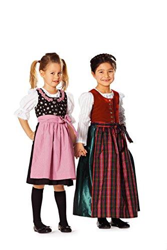 Burda Schnittmuster 9509 Dirndl,Traje Tiroles Gr. 104-140