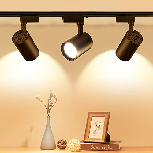 LICHTSTERN Power COB LED-Schienenleuchte 12W 30W 20W 40W Schienenleuchten Leuchten Strahler 220V für Ladenbekleidung Store Home