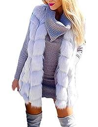 POLP Abrigos mujer Abrigos Pelo Mujer Invierno Abrigos Mujer Invierno Elegantes Chaquetas Pelo Chalecos Mujer Invierno