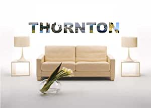 Wall Decal Sticker City Thornton with some Attractions 100 cm
