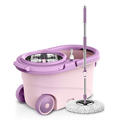 XINJING-Art Spin Mop and Bucket Set, Sistema Completo De Lavado Y Lavado En Seco, Amado por Los Hogares con Niños Y Mascotas