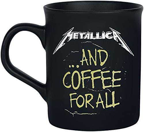 Metallica and coffee for all Tazas negro mate