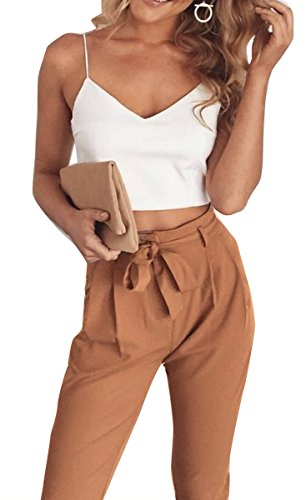 fancyinn-women-4-pieces-outfit-spaghetti-strap-crop-top-trousers-with-belt-m