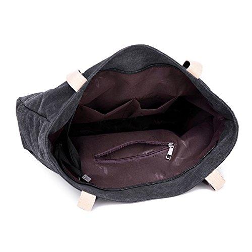 Segeltuch-Schulter-Kursteilnehmer-koreanische Kunst-einfache Druck-Handtasche,Beige Brown