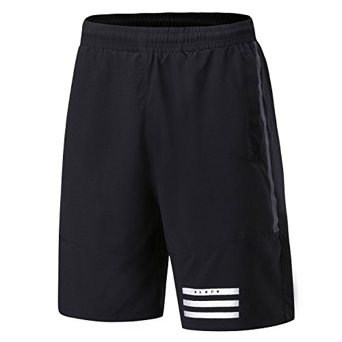 FELiCON Sports Shorts Herren Lässige Fitness Training Fitness Sweat Lauf Shorts Schnell trocknende Interne Kordel Shorts für Männer mit Kordelzug Stretch Taille Reißverschlusstaschen