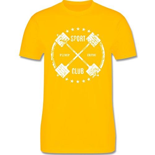 CrossFit & Workout - Sport Pump Iron Club - Herren Premium T-Shirt Gelb