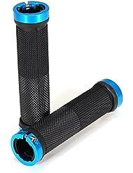 oxforder doble Lock On Locking Puños para manillar para bicicleta MTB bicicleta de montaña BMX bicicleta plegable, azul
