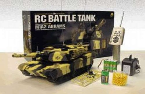 M1A2 ABRAMS 1:24 R/C Airgun Battle Tank / US-Kampfpanzer mit echter Schussfunktion, 6mm BB Geschosse, RC, RTR - Ready to Run (Bb-tank Rc)