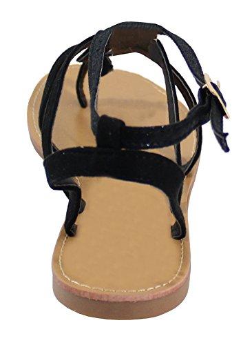Di Sandalo Di Scarpe Pelle Scamosciata Donna Stile Colore Pelle Lucida In E Intrecciati HaqPq