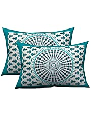 Jaipur Pride Floral Printed Cotton Pillow Cover(Pink)