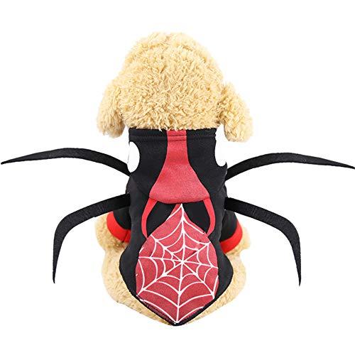 Hund Spinne Outfit - Halloween pet kostüm dress up requisiten