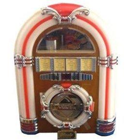 Mp3-player 512 Mb Flash-speicher (Steepletone Classic Rock Mini - USB-MP3-CD-LED-Mini-Jukebox (Licht Honig))