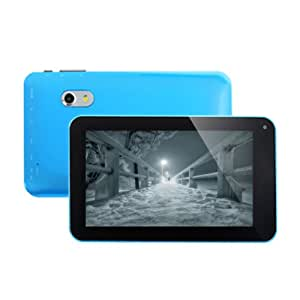 """Bleu 7"""" inch Dual Core Touch Screen Tablette Tactile PC capacitif Allwinner A20 Cortex 1.0GHz CPU Android 4.2.2 Jelly Bean 4GB HDD 512MB DDR3 WiFi HDMI"""