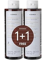 Korres 1+1 Set Rice Proteins Shampoo, 500 ml