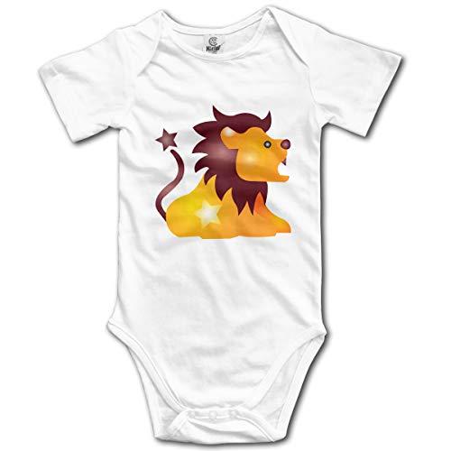 U are Friends Leo Lion Neugeborenes Mädchen Jungen Kinder Babyspielanzug Kurzarm Säuglingskleinkindoverall(18M,Weiß) Lion Footed Sleeper