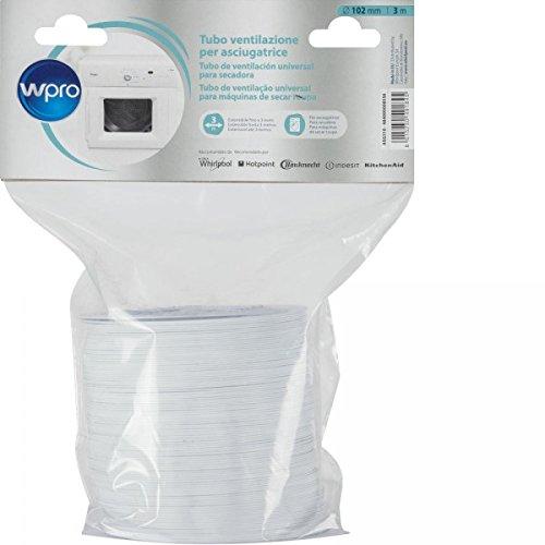 WPRO - Acc pour branchement et traitement de l eau Wpro Gaine pour sèche-linge àévacuation (ASG 310) -