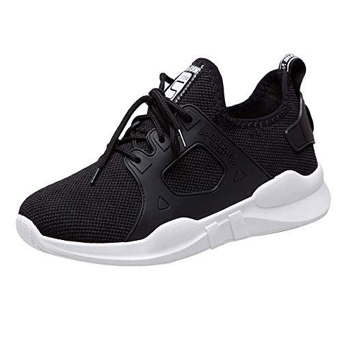 FNKDOR Mode Frauen Schuhe Freizeitschuhe Wanderschuhe Damen Sportschuhe (35, Schwarz)