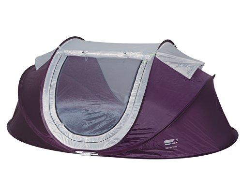 High Peak Pop up Wurfzelt Levanto, pflaume/hellgrau, 230 x 135 x 90 cm, 10140, 2 Personen