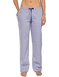 Schiesser Damen Schlafanzughose Web Hose Lang