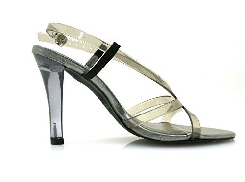 Sapatos De Das Fumaça Sandalette Verão Via Sapatos Mulheres Calçados 20850602 Uno Saltos Altos nqzIwYSf