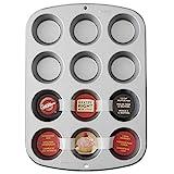Wilton 03-3118 Moule à cupcakes/muffins en acier antiadhésif 12 trous