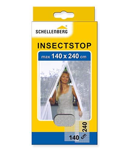 Schellenberg 20503 Mosquitera para Puertas, protección Anti Insectos y Moscas - Blanca (140 x 240 cm)