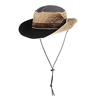 c3442779906 WITHMOONS Boonie Bush Hats Wide Brim Aztec Pattern Side Snap AC8726 ...