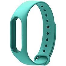 COOSA Correa de Recambio Brazalete Extensibles coloridos impermeables para reemplazo Pulsera XIAOMI Wireless Recambio para Pulsera Inteligente XIAOMI MI band 2 (sin Rastreador de actividad) (verde 2, para xiaomi pulsera inteligente 2)