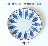 YUWANW Giapponese tavola Colore piattino in Ceramica Creativa sottosmalto Sushi e Vento Fiori inventario Heart Dish Home Dischi 11,4cm, Le Lame