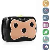 GPS Tracker Kainuoa Katze und Hund Haustier GPS Wireless WiFi Super lange Verfolger Anti-Verlust Haustier GPS Halsband (schwarz)