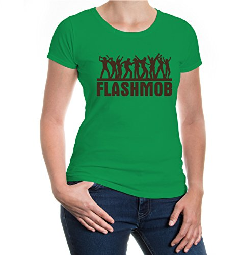 buXsbaum Girlie T-Shirt Flashmob-XXL-Kellygreen-Brown