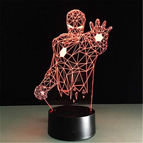 Ricarica USB illuminazione 3D colorata illuminazione notturna per bambini tavolo decorazione luce Lanpara sogno