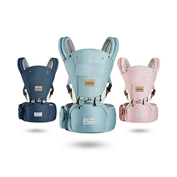 Gossipyboy Baby Carrier/ Front Carrier One with Hip Seat Egornomic Designed 11 in 1 Hands Free for All Seasons, Easy Breastfeeding, No Infant Insert Needed, Adapt to Growing Baby (Pink) Gossipboy PREMIUN COTTON MATERIAL. We used top quality 100% pure cotton material, which is soft, smooth, breathable, anti- allergy, anti- depigmentation and anti- pilling. Plus tough buckles, your baby will be comfortably secured in the baby carrier, no worries for falling accidents! LABOR SAVER. The unique shoulder design and thickly padded wide shoulder straps can easily disperse baby's weight. You will feel much easier with this baby carrier because the baby's weight is distributed. The buckles are easy to access and durability tested. ANTI- SLIP HIP SEAT. The hip seat was designed by ergonomics and thickly padded by anti- slip rubber dots surface. It benefits skeletal development for baby. Plus the covered edges around the hip seat, you are worry- free for scratches to your baby's delicate skin. 35° bevel design for more comfortable parenting. 8