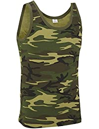 Camouflage Military Vest Top - Woodland Camouflage